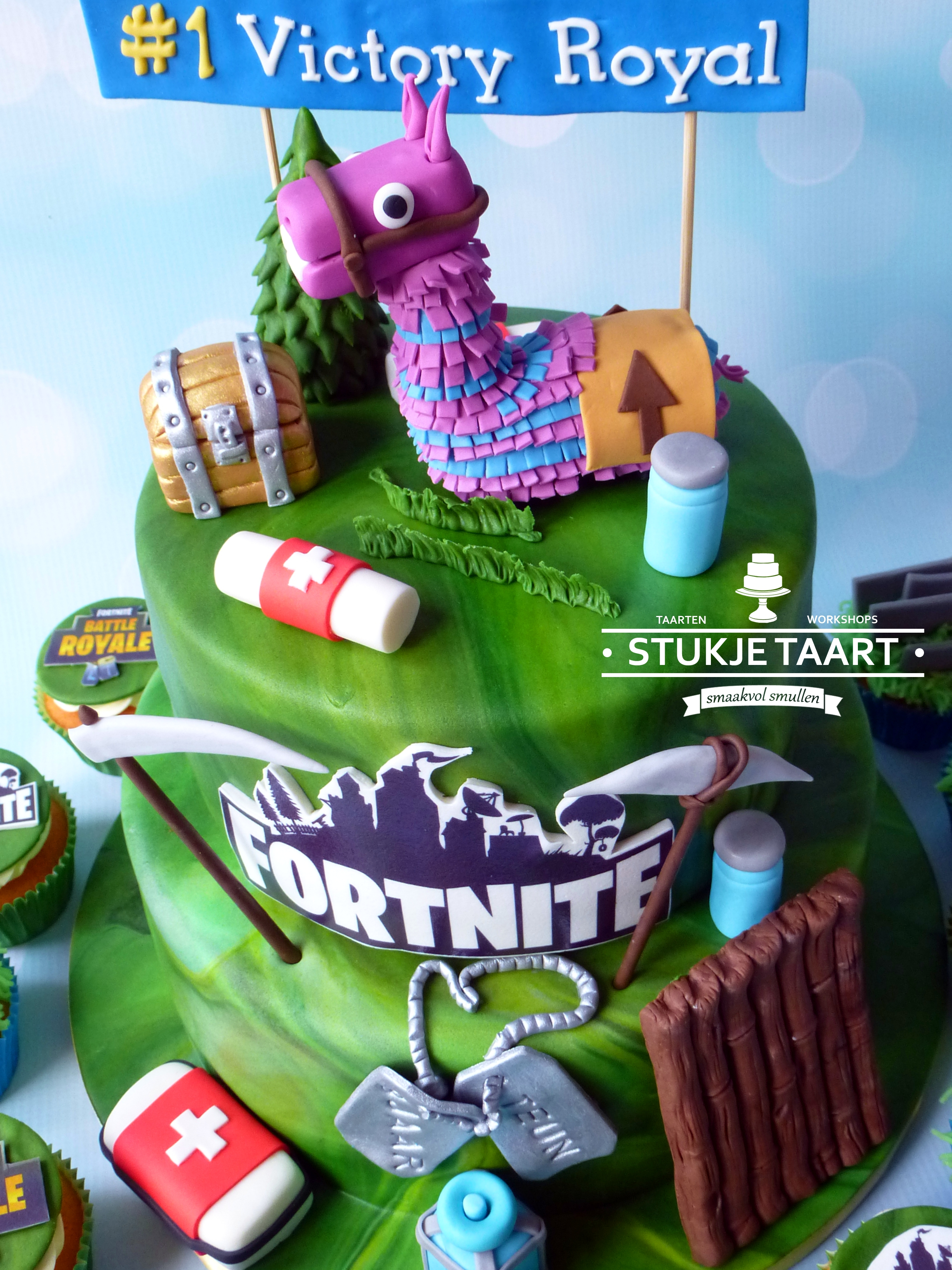 Fortnite stapeltaart