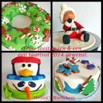 Monieks workshops en Stukje taart kerst en 2014 groet