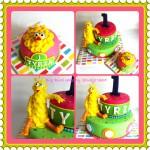 Big Bird taart