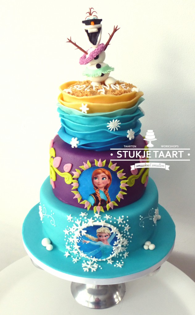 Frozen 3 legen taart