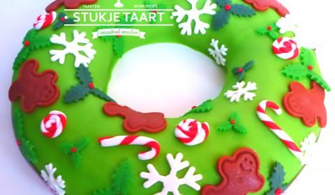 Kerstkrans taart workshop